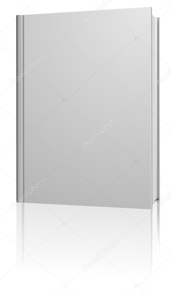Standing blank hardcover book isolated on white background. — Stock Vector #1578704