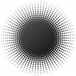 Radial halftone element — Stock Vector