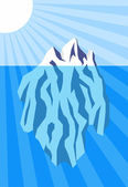 Iceberg — Stock Vector