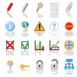 Textbook icon set — Foto de Stock