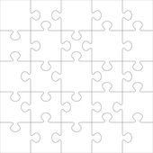 Puzzle vector template. — Stock Vector
