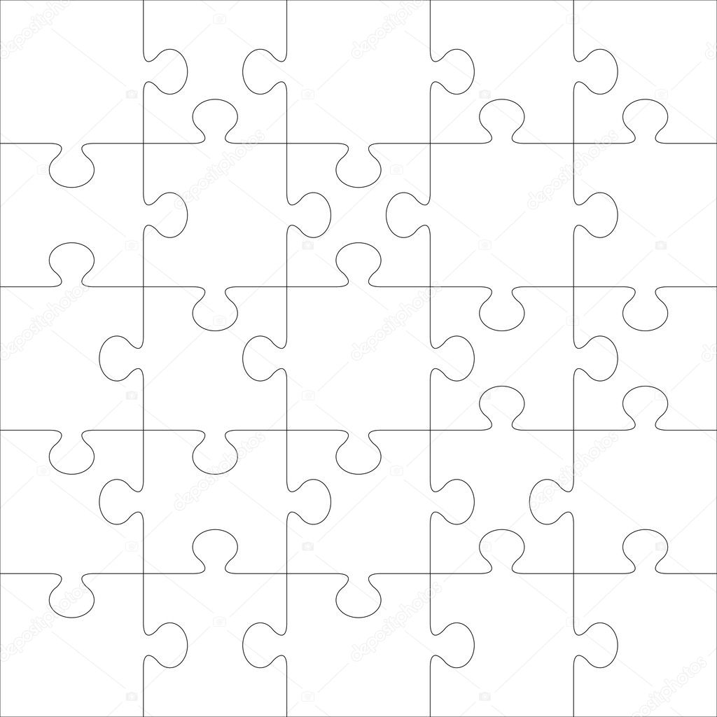 Puzzle vector template. Using puzzle pieces of this illustration you can make up puzzle of any size. — Stock Vector #2189496