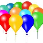 kolorowe balony — Wektor stockowy