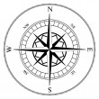 Compass wind rose — Stockvectorbeeld