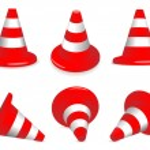 Set of traffic-cones — Stock Vector #2376703
