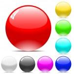 Varicolored vector balls — Stock Vector
