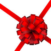 Red present ribbon — Stock Vector