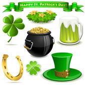 Saint Patrick's Day symbols — Vettoriale Stock