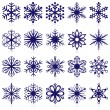 Snowflake shapes. Set 1. - Stock Vector