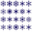 Stock Vector: Snowflake shapes. Set 1.