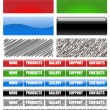 Stock Vector: Web site menu bars