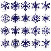 Snowflake shapes. Set 1. — Stock Vector