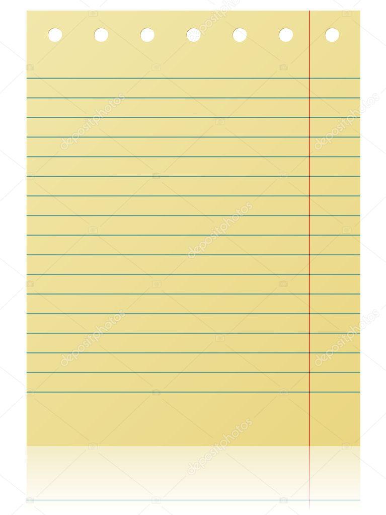 Notepad Lined Page — Stock Vector © Tuulijumala #2512392