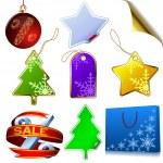 Blank winter sale elements — Stock Vector