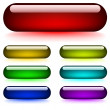 Royalty-Free Stock ベクターイメージ: Glowing glossy buttons
