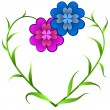 Royalty-Free Stock Vector Image: Flowers forming heart