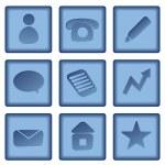 Business buttons set — Stock Vector