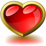 Framed glossy heart — Stock Vector