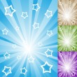 Rays and stars background — Stock Vector