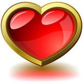 Emoldurado coração brilhante — Vetorial Stock