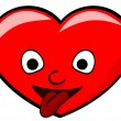 Cartoon red heart — Image vectorielle