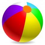 Piłka plażowa — Wektor stockowy