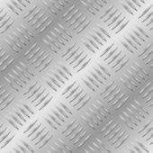 Seamless diamond metal plate — Stock Vector