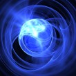 Abstract blue sphere background — Stock Photo
