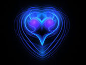 Abstract blue heart background — Stock Photo