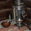 Ancient samovar on a table — Stock Photo