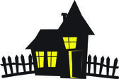 Apartment house silhouette — Stock Vector