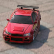 Red sport car toy - Stock Photo