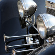 Stock Photo: Vintage classic car light lamp