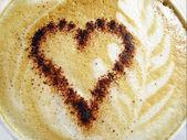 Cappuccino cream background — Stock Photo