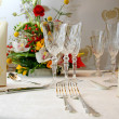 Stock Photo: Catering set table in restaurant