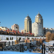 Stock Photo: City quays in Kiev at winter