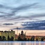 City quays at night — Stock Photo