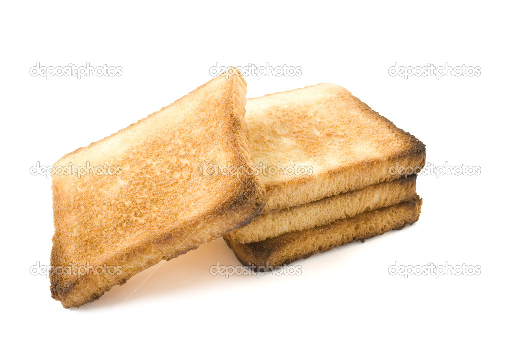 Three slices of bread on a white background — Stock Photo #1169742