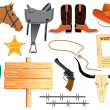 Cowboy elemennts. Texas life - Stock Vector