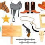 Cowboy elemennts. Texas life — Stock Vector #1176417