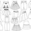 Skirts .Fashion - Stock Vector
