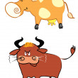 Bull and cow - 