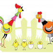 Chicken family - Stock Vector