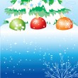 Royalty-Free Stock Vector Image: Postcard. Christmas tree
