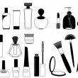 Cosmetics. Silhouettes — Stock Vector