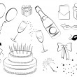 Royalty-Free Stock Imagen vectorial: Celebration elements.Vector