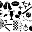 Sports equipment.Vector symbol — Vettoriali Stock