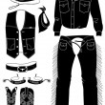 Cowboy clothes on white. — Stock Vector #1179776