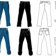 Jeans for man - Imagens vectoriais em stock