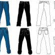 Jeans for man - Stock Vector